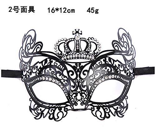 2 Eisen Kostüm Mann Frau - liafa Metal Mask Festival Maskerade Erwachsene Prinzessin Männer Und Frauen Eisen @ B-0002