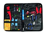 Maplin 20 Part Electronics Electricians Computer PC Repair Maintenance Tool Kit Soldering Iron Multimeter Screwdrivers Tweezers Crimping Wire Stripper