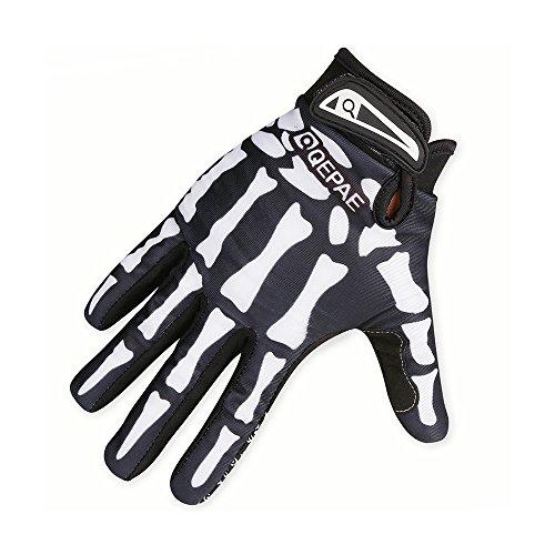 (Centtechi Skelett Handschuhe Fahrradhandschuhe Radsport Warme Winterhandschuhe M/L/XL)