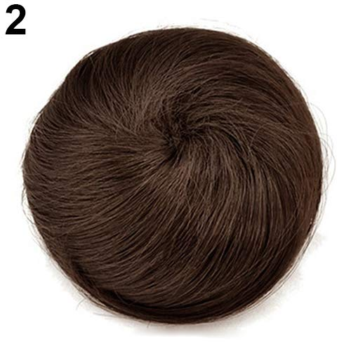 Bangle009 Perruque de cheveux synthétiques pour femme avec fausses fibres synthétiques Noir