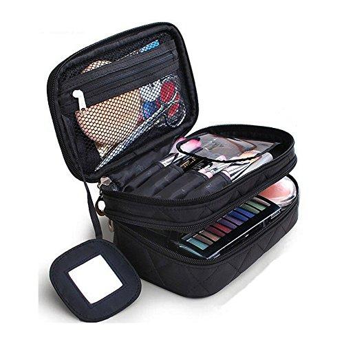 Kosmetiktasche, ONEGenug MakeUp Tasche, Schminktasche Kosmetikbeutel 20*12*8 cm Doppelschicht mit...