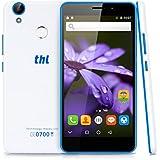 "THL T9 Pro - Android 6.0 Smartphone libre 16GB (4G LTE, Pantalla 5.5"", 2GB RAM, Quad-Core 1.3GHz, Cámara 8.0 Mp, Sensor de huellas dactilares, WiFi, Dual SIM), Blanco"