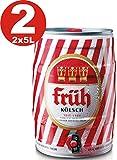 Früh Kölsch Party-Fass mit integriertem Zapfhahn Bierpaket (2 x 5 l)
