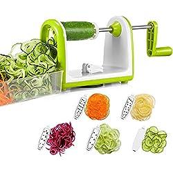 Bonsenkitchen Cortador de Verduras en Espiral, Espiralizador de Verduras