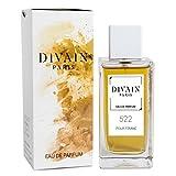 DIVAIN-522 / Similaire à Deep Red de Hugo Boss / Eau de parfum pour femme, vaporisateur 100 ml