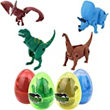 QUINTRA Kreatives Simulations-Dinosaurier-Spielzeug-Modell verformte Dinosaurier-Eiersammlung für Kinder