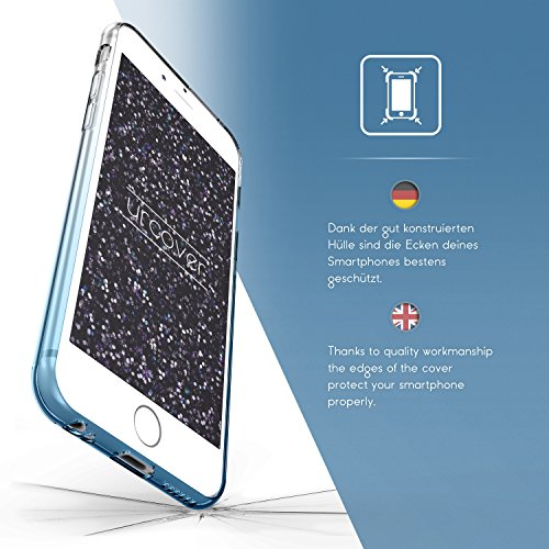 Original Urcover® Apple iPhone 6 Plus / 6s Plus Hülle Soft Rainbow Glitzer Series Handyhülle [BLAU] TPU Cover Case Etui Schutzhülle für TOP Handyschutz Blau