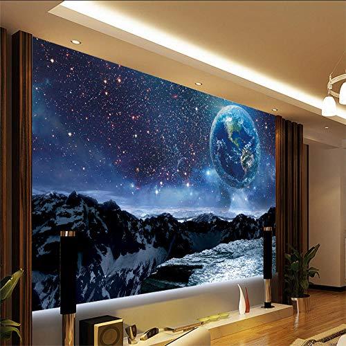 Sternenhimmel Wallpaper_Earth Galaxy Wallpaper_3d Sternenuniversum Erde Galaxy WallpaperWallpaper 3D Fototapete Einfügen Grenze Wandbild Tapete Fototapete Wandbilder-300cm×210cm