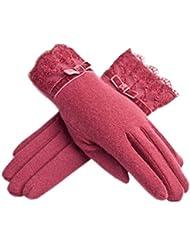 Red Vintage Femmes Gant/ Haute Qualité Chaud Gants/ Gants de Mode