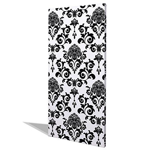 BANJADO Design Magnettafel groß, Memoboard weiß, Schreibtafel 37cm x 78cm, magnetische Pinnwand...