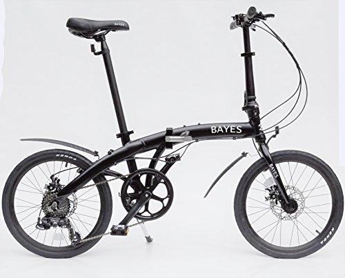 "BAYES ALU Klapprad 20\"" Faltrad Fahrrad 8 Gang Shimano Scheibenbremsen schwarz matt"