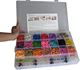 Ateam Loom Bandz Kit & Clips Collection with 4200 Bandz + 170 Clips + 5 Hooks + 1 Loom Board 11 Beautiful Colors and Great Storage Case