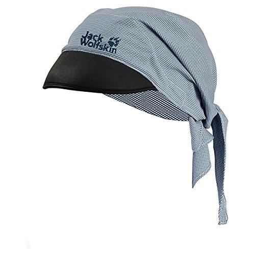 Jack Wolfskin Kinder Kappe Desert Sun Triangle Cap, Night Blue Checks, One Size (49-55CM), 1904051-7630495