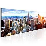 murando - Bilder New York 120x40 cm - Leinwandbilder - Fertig Aufgespannt - Vlies Leinwand - 1 Teilig - Wandbilder XXL - Kunstdrucke - Wandbild - New York NY City Stadt d-B-0189-b-b