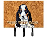 Caroline's Treasures LH9450TH68 Basset Hound Wipe your Paws Leash or Key Holder, Large, Multicolor
