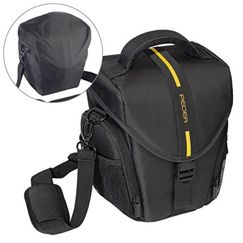 Essex grande SLR con custodia antipioggia e pellicola protettiva per Nikon D500/D610/D3400/D3300/D5300/D7100/D7200/Canon EOS 1300D/5D Mark II fotocamera–giallo