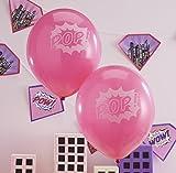 Ginger Ray Ballons gonflables roses pour filles X 10- fête super-hérosPop Art