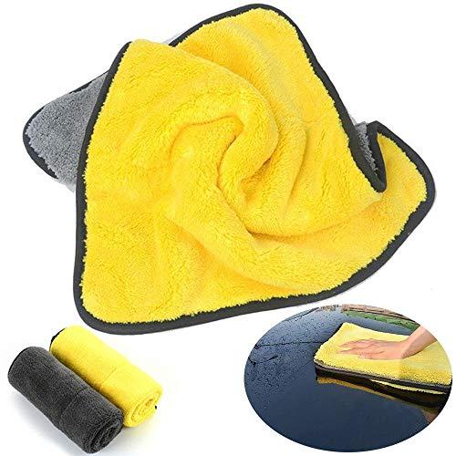 YUELANG 4 Größe Super Saugfähigen Waschlappen Mikrofasertuch Reinigungstücher Lappen Detaillierung Autotuch Autopflege Polieren (Specification : Size D)