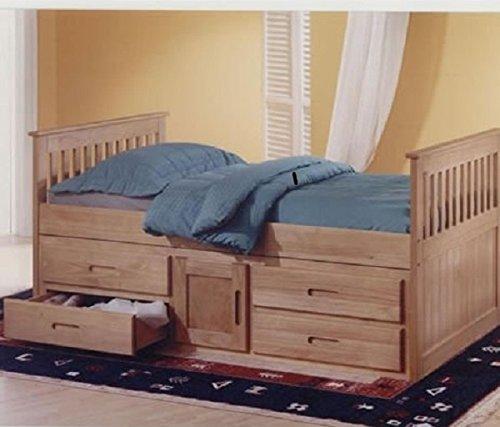 Antique Pine 3ft Single Captain Cabin Storage Solid Pine Wooden Bed Bedframe FROM CENTURION PINE