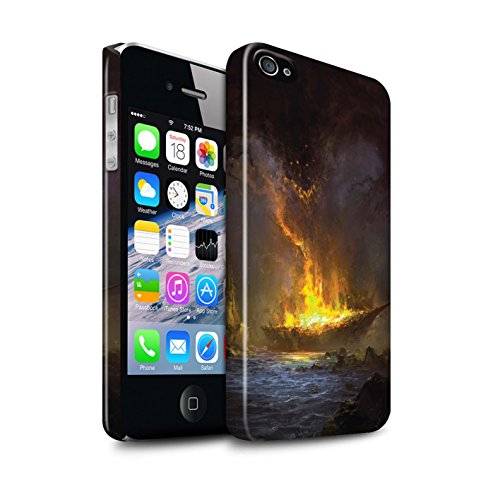 Offiziell Chris Cold Hülle / Glanz Snap-On Case für Apple iPhone 4/4S / Schiffswrack Muster / Gefallene Erde Kollektion Schiffswrack