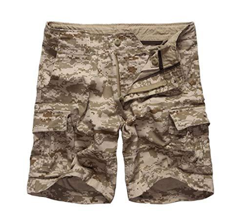 Digital Camo Cargo Short (DFEIPING Mens Army Military Camouflage Cargo Shorts Casual Work Multi Pockets Shorts Waist Casual Shorts,Desert Digital Camo,42)