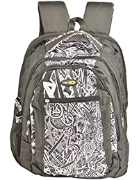 Trendz Polyester 15 Liters Black And White School Bag (709 Black)