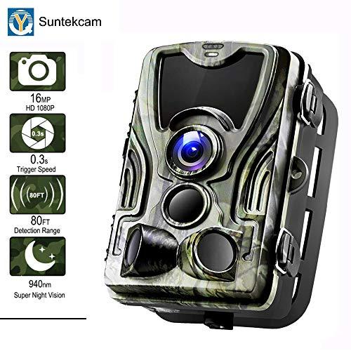 T ech Jagdspiel Kamera, 16MP 1080P HD Spiel Jagd Cam 940Nm IR LEDs Nachtsicht Motion Activated Kameras Mit 2,0