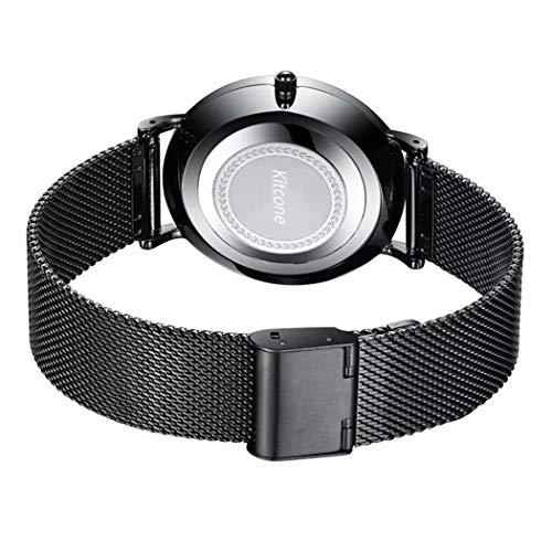 Micacchi Analogue Digital Multi Colour Dial Silicone Black Strap Mens & Boys Watch -SB SM