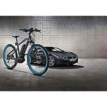 Bicicleta BMW eléctrica, original, color gris oscuro, tamaño pequeño -