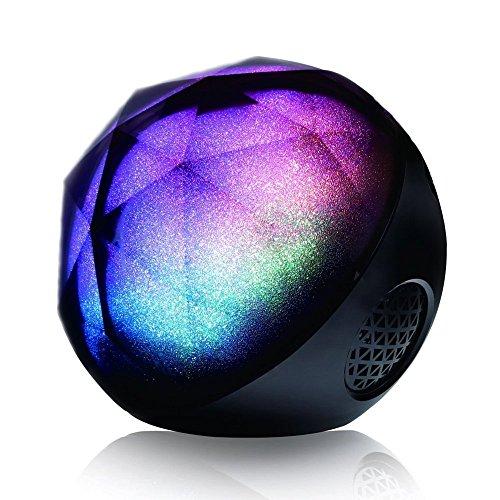h Lautsprecher MagicBox Tragbar Drahtlos Wireless Speaker  mit Bass und  Lichteffekt LED Beleuchtet Fernbedienung TF Card Steckdose (Auto Lautsprecher Mit Gutem Bass 6x8)
