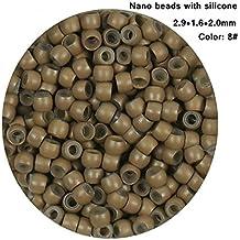 Cuentas de silicona pequeñas para extensiones de pelo, 1.000 unidades
