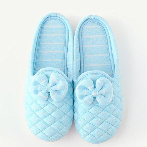 Mois de chaussures Été section mince de lemballage avec les pantoufles maternelles post-partum Pantoufles de coton antidérapantes respirantes à lintérieur de lintérieur (4 couleurs en option) (tail C