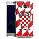 Samsung Galaxy J5 (2016) Silikon Hülle Case Schutzhülle Kroatien Em Trikot Football Fussball