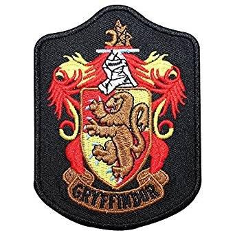 Harry Potter Gryffindor Slytherin Ravenclaw House Wappen bestickt abzeichen Patch Aufnäher oder zum Aufbügeln 5cmL x 10(BxTxH)
