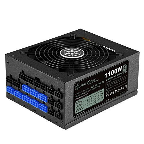 Get SilverStone SST-ST1100-TI – Strider Titanium Series, 1100W 80 Plus Titanium ATX PC Power Supply, 135mm, 100% modular