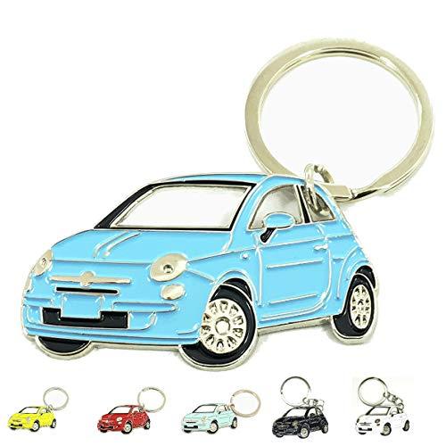 Fiat 500 Keyring Schlusselanhanger Fanartikel Schlussel Anhanger Keychain Accessories Blue