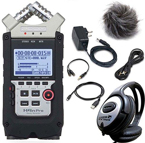 ZOOM H4n PRO Handy Recorder + APH-4n PRO Zubehör Set + keepdrum Kopfhörer