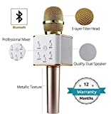 Squaircle Handheld Q7 Mic Wireless Karaoke Microphone Condensor with Bluetooth Speaker for All
