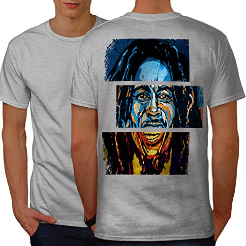 Marley Legende Berühmtheit Frei Geist Männer XXXXL Ringer T-Shirt | Wellcoda (Geist T-shirt Ringer)