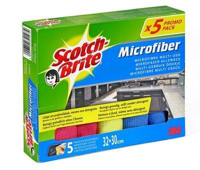 Scotch-Brite Bayeta Microfibras Premium, 5 unidades, 5