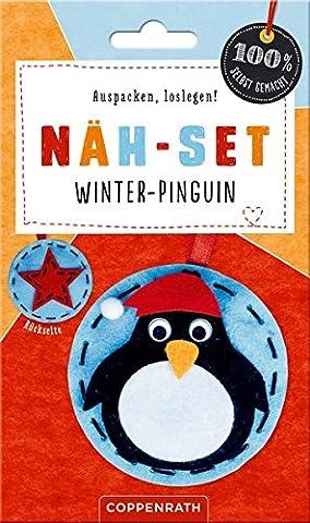 Näh-Set: Filzanhänger Winter-Pinguin (100% selbst gemacht)