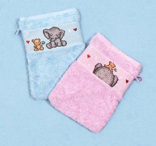 Kinderfrottierwaschhandschuh éléphant couleur : lilas