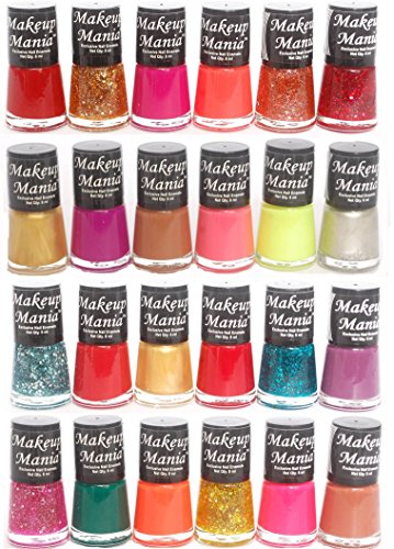Makeup Mania Exclusive Nail Polish Set of 24 Pcs (Multicolor Set # 80, 83)