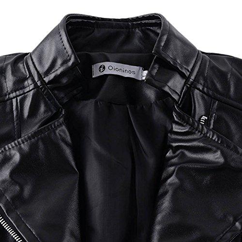 Yalatan Women Fashion Slim Short PU Jacket Outwear Zipper Jacket Turn-down Collar Outwear Lady Plus Size 3XL Black