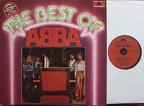 """THE BEST OF ABBA / including: Honey Honey, Waterloo, Ring Ring, I Do, I Do, I Do, S.O.S. - Fernando / ca. 1976 / Bildhülle / Polydor # 2459318 / Deutsche Pressung / 12"""" Vinyl Langspiel Schallplatte"""