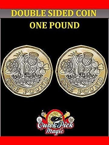 Doppelte Gezählter Neu 12 Seitlich Pfund - Zahl Auf Beiden Seiten - Zweiseitig Münze Trick (12 Magische Münze)
