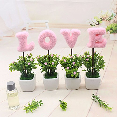 GBHNJ Künstliche Blumen Geschenk Gala Couchtisch Simulation Schreibtisch Topfpflanzen Dekoration Pflanzen Rosa Weiß Square Vase (Square-geschenk-korb)