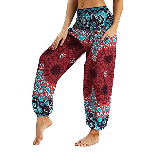 Cicisiso Thailand Nepal Reisen Wide Leg Yoga Hosen Digitaldruck Elastische Taille Yoga Hosen Breite Bein Design Casual lose Atmungsaktiv 4 - Wide-leg-reise-hose