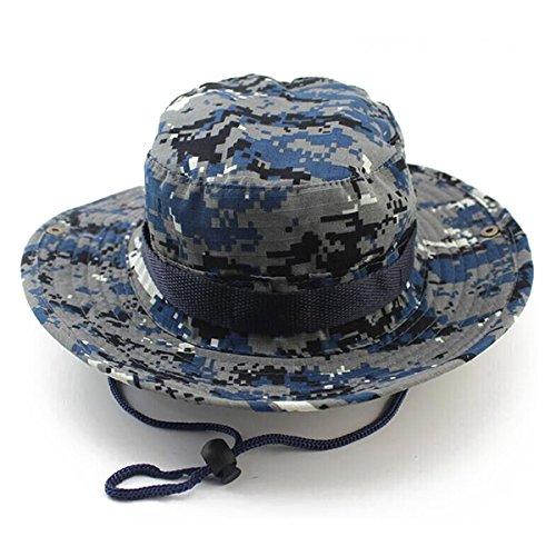 WINOMO Der Boonie Eimer Hut Outdoor Jagdhut Bush Cap für Angeln Jagd (Blue Camo)