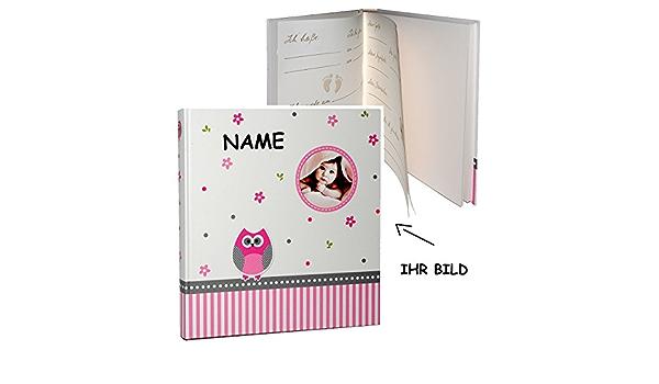 Babytagebuch Fotobuch // Photoalbum // Ba.. blanko gro/ß f/ür bis zu 312 Bilder Gebunden zum Einkleben Baby Tiere incl Set: XL Fotoalbum alles-meine.de GmbH 2 TLG Namen